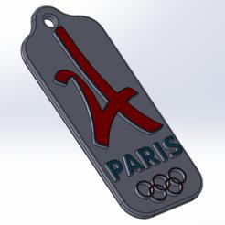 Diseños 3D gratis Llavero del logotipo olímpico 2024 PARIS, DjeKlein