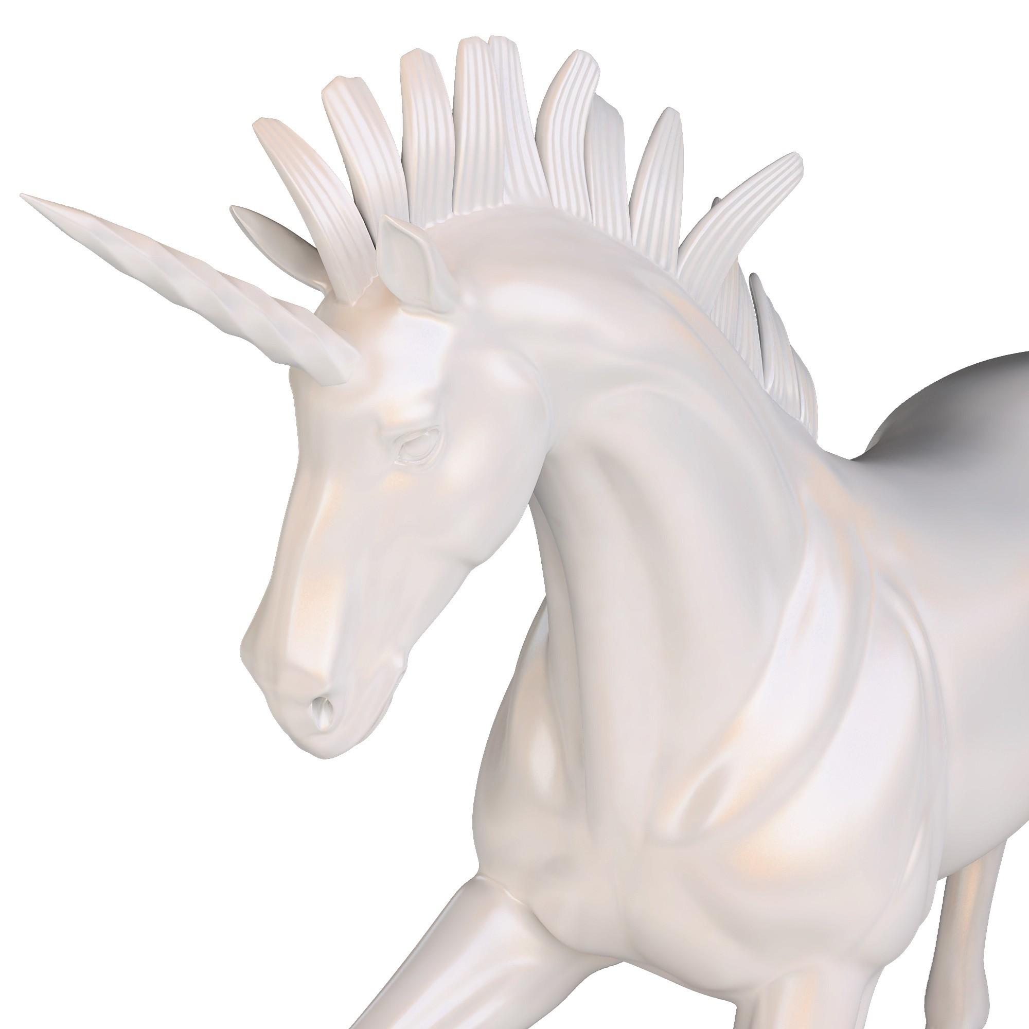 Unicorn 06.jpg Download OBJ file Unicorn Sculpture • 3D printable template, FORMBYTE
