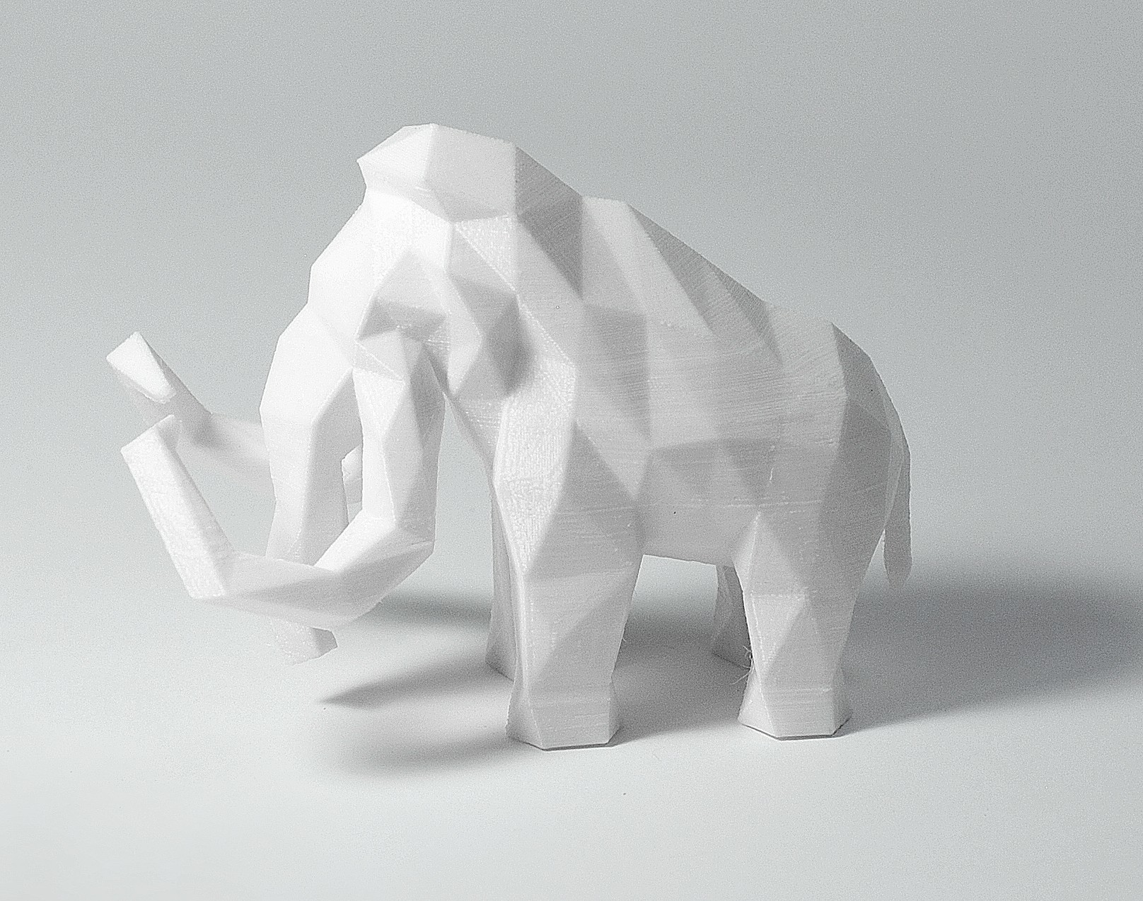 Mammoth 3.jpg Download STL file Low Poly Animal Collection • 3D printing template, FORMBYTE