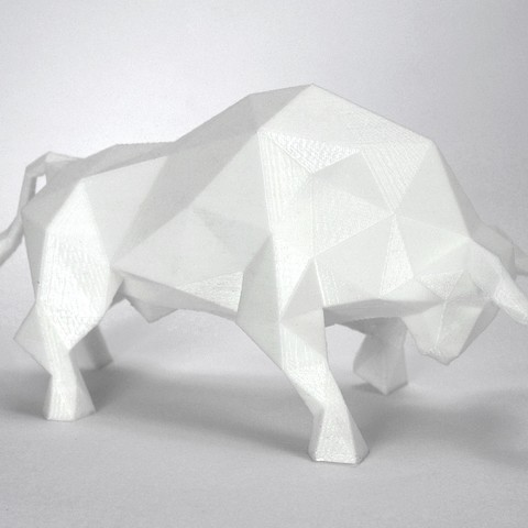 Bull 3.jpg Download STL file Low Poly Animal Collection • 3D printing template, FORMBYTE