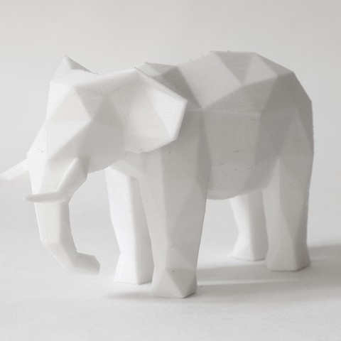 elephant (2).JPG Download STL file Low Poly Animal Collection • 3D printing template, FORMBYTE