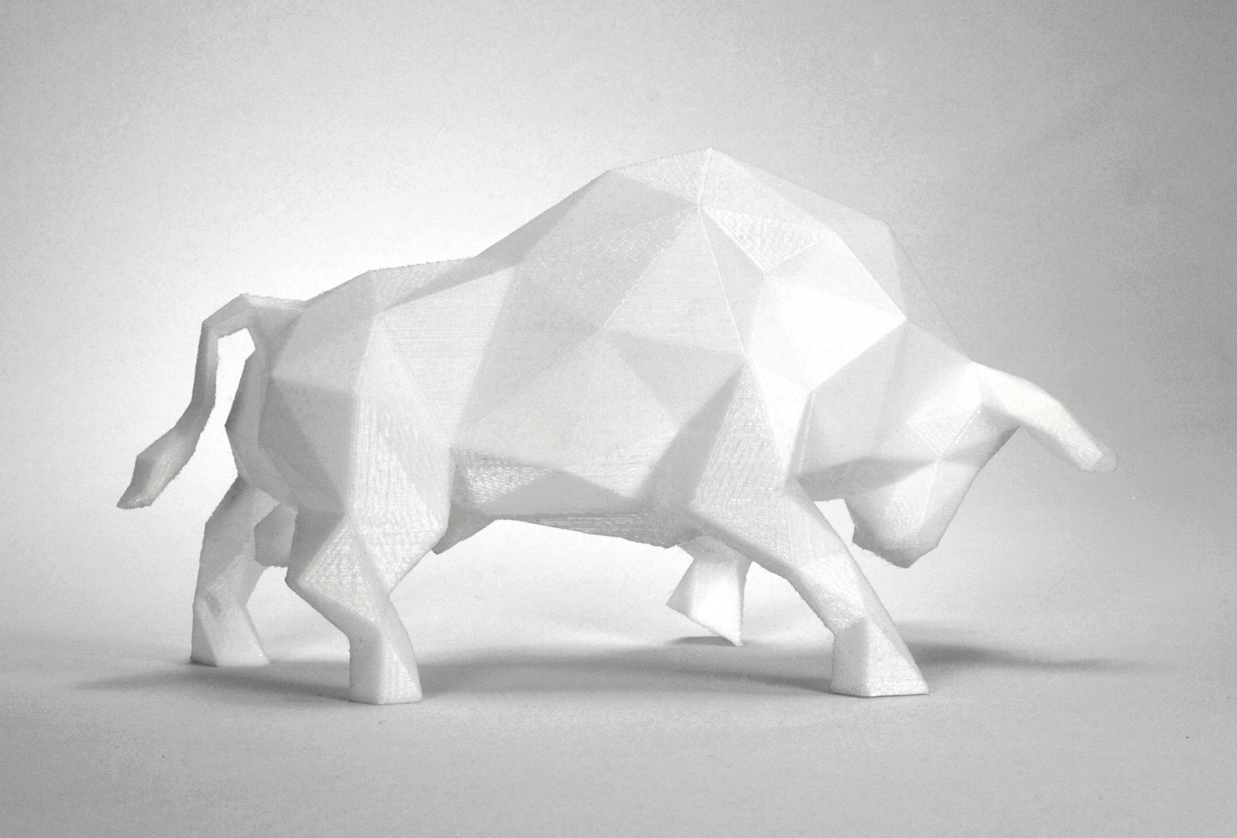Bull 1.jpg Download STL file Low Poly Animal Collection • 3D printing template, FORMBYTE