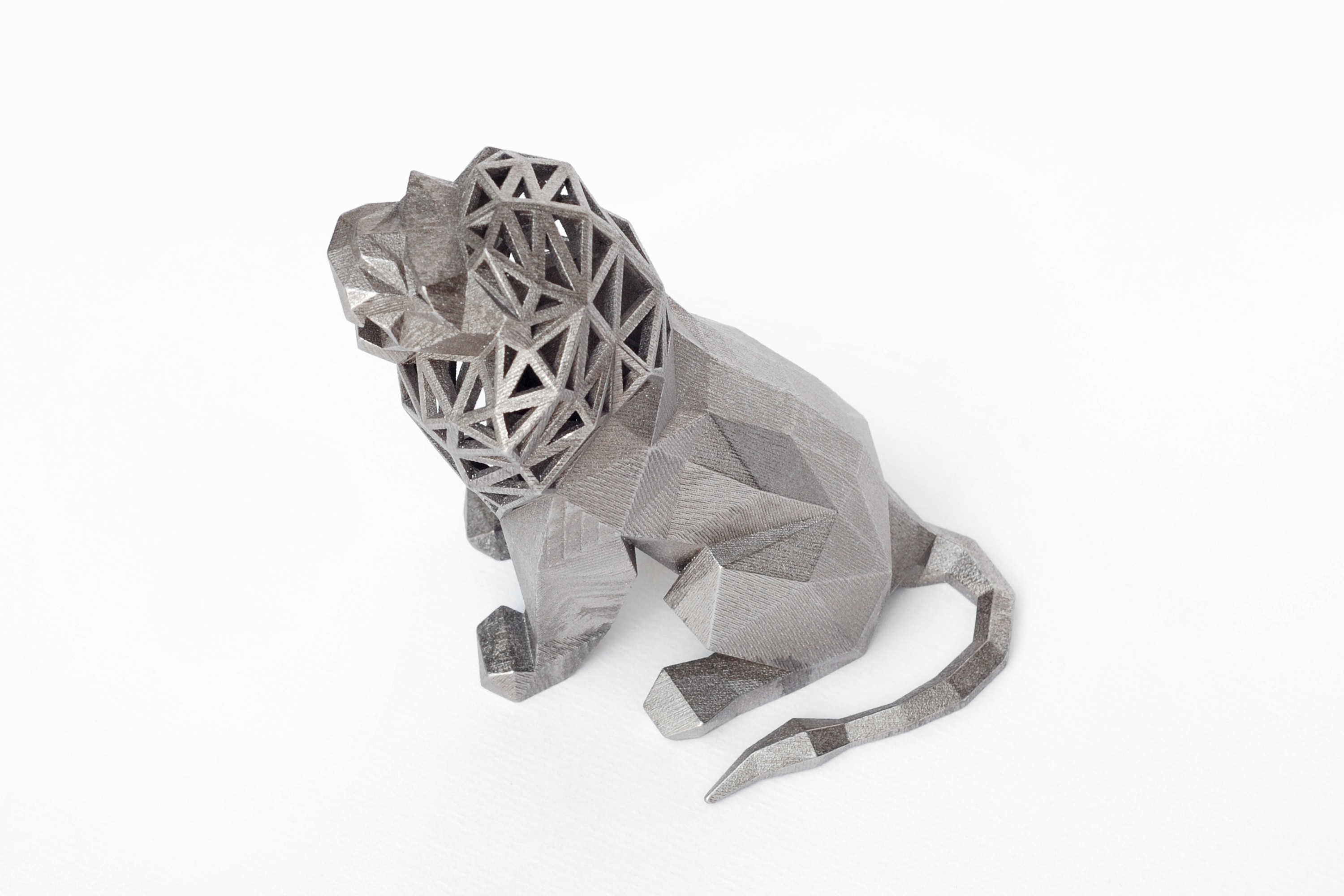 lion 2.jpg Download STL file Low Poly Animal Collection • 3D printing template, FORMBYTE