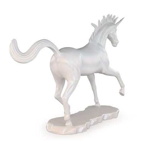 Unicorn 03.jpg Download OBJ file Unicorn Sculpture • 3D printable template, FORMBYTE