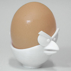 Download free 3D printer templates Angry Bird Egg Cup, FORMBYTE