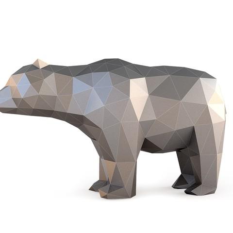 3D printer file Low Poly Bear, FORMBYTE