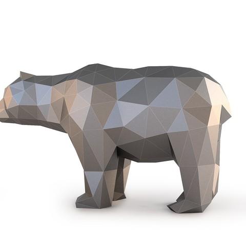 Low Poly Bear_View060025.jpg Download OBJ file Low Poly Bear • 3D printable design, FORMBYTE