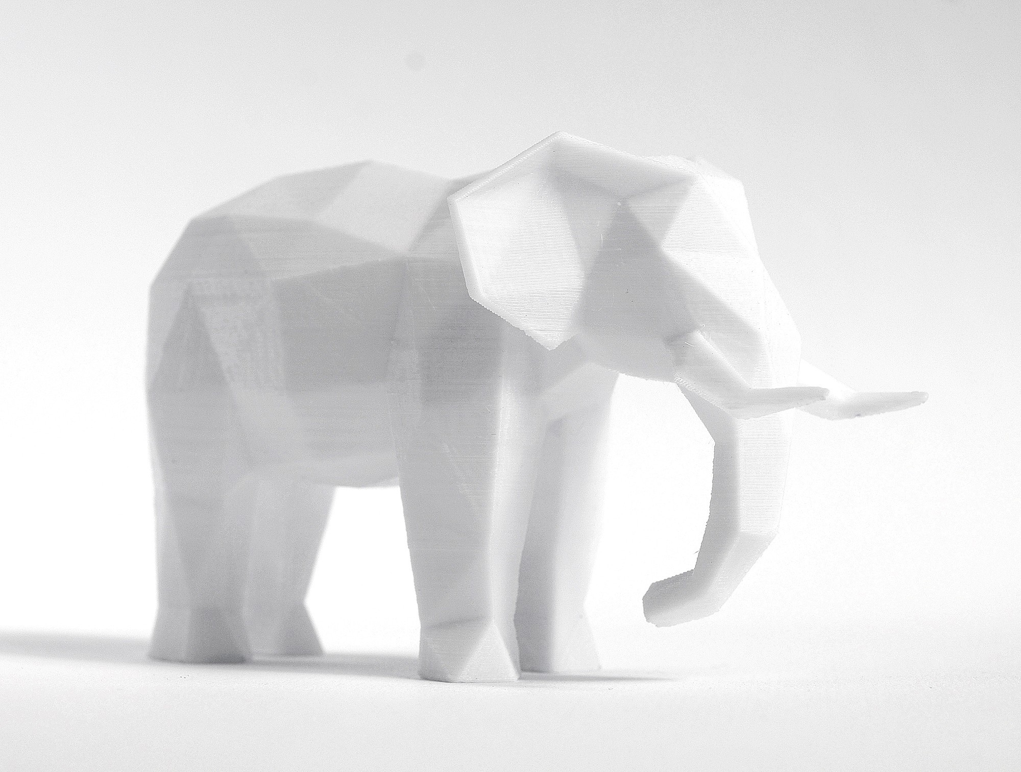 elephant (3).jpg Download STL file Low Poly Animal Collection • 3D printing template, FORMBYTE