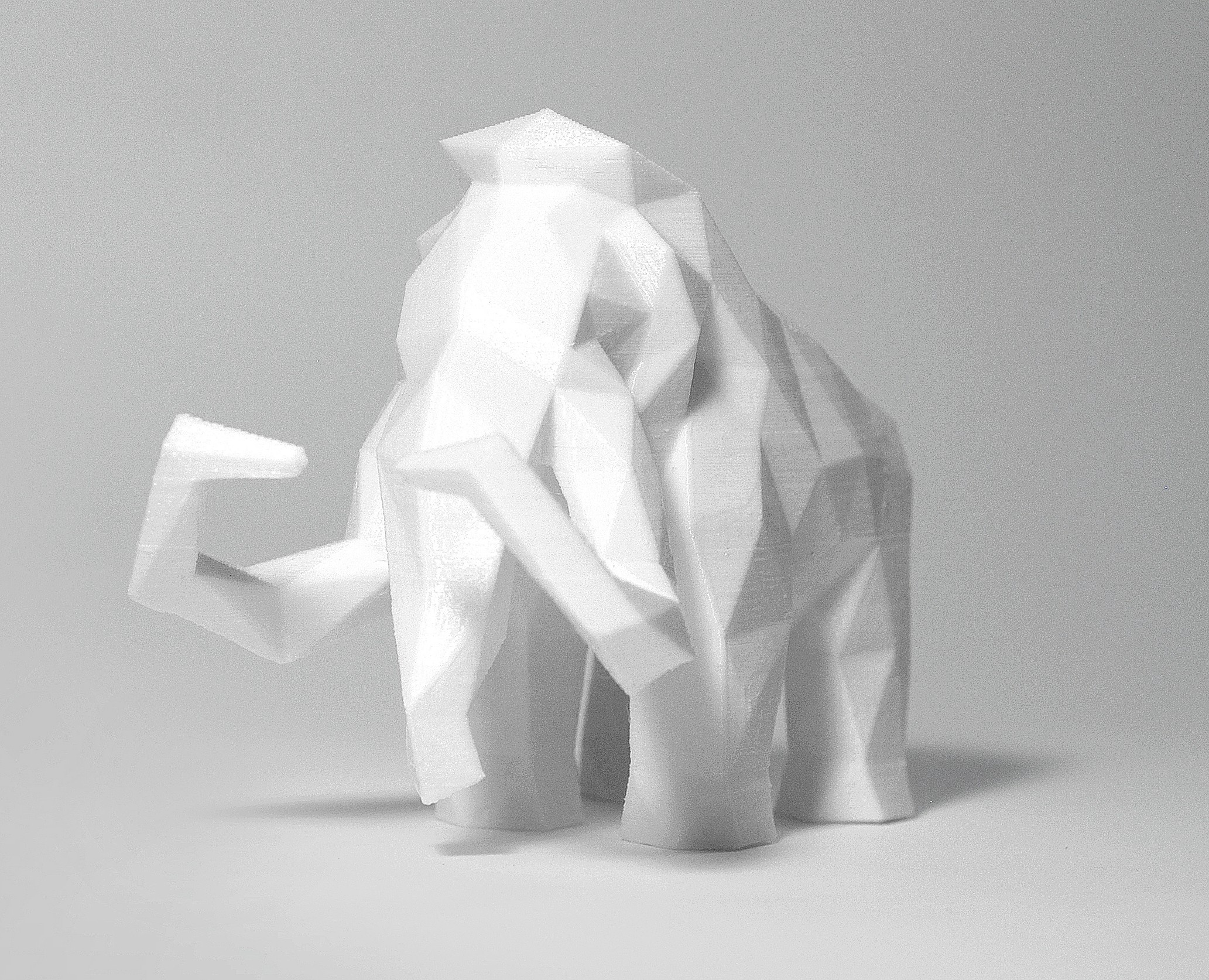 Mammoth 1.jpg Download STL file Low Poly Animal Collection • 3D printing template, FORMBYTE