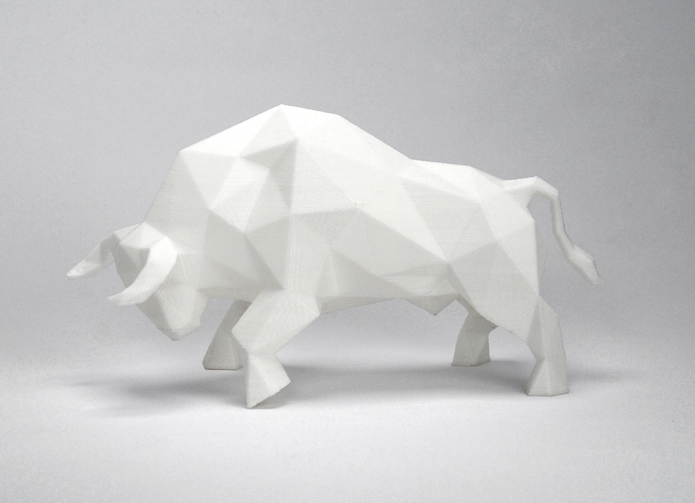 Bull 2.jpg Download STL file Low Poly Animal Collection • 3D printing template, FORMBYTE