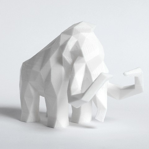 Mammoth 2.jpg Download STL file Low Poly Mammoth • 3D printable template, FORMBYTE