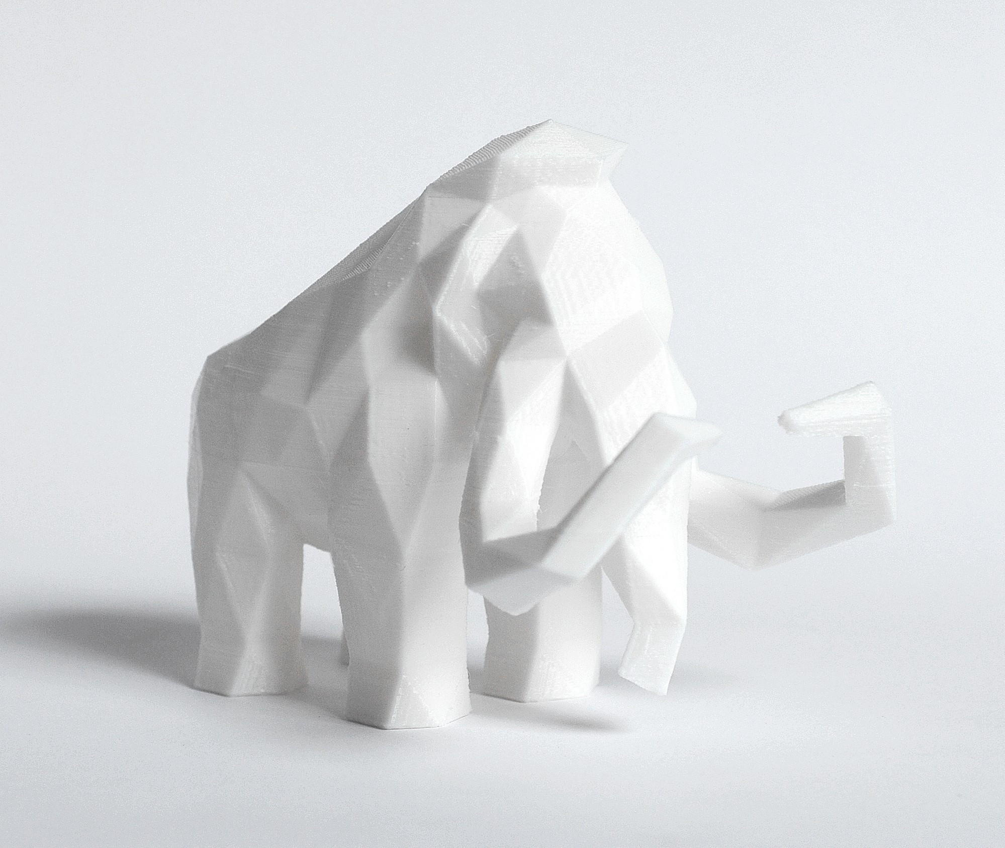 Mammoth 2.jpg Download STL file Low Poly Animal Collection • 3D printing template, FORMBYTE
