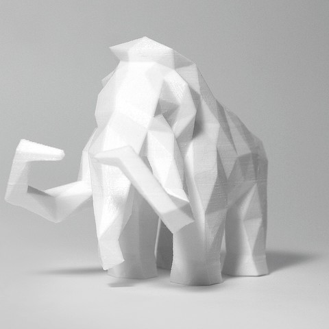 Mammoth 1.jpg Download STL file Low Poly Mammoth • 3D printable template, FORMBYTE