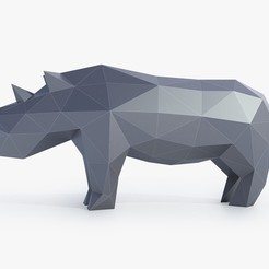 3d printer model Low Poly Rhinoceros, FORMBYTE