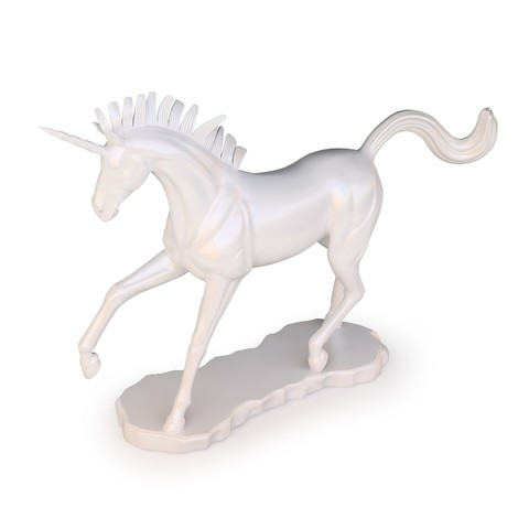 Unicorn 05.jpg Download OBJ file Unicorn Sculpture • 3D printable template, FORMBYTE