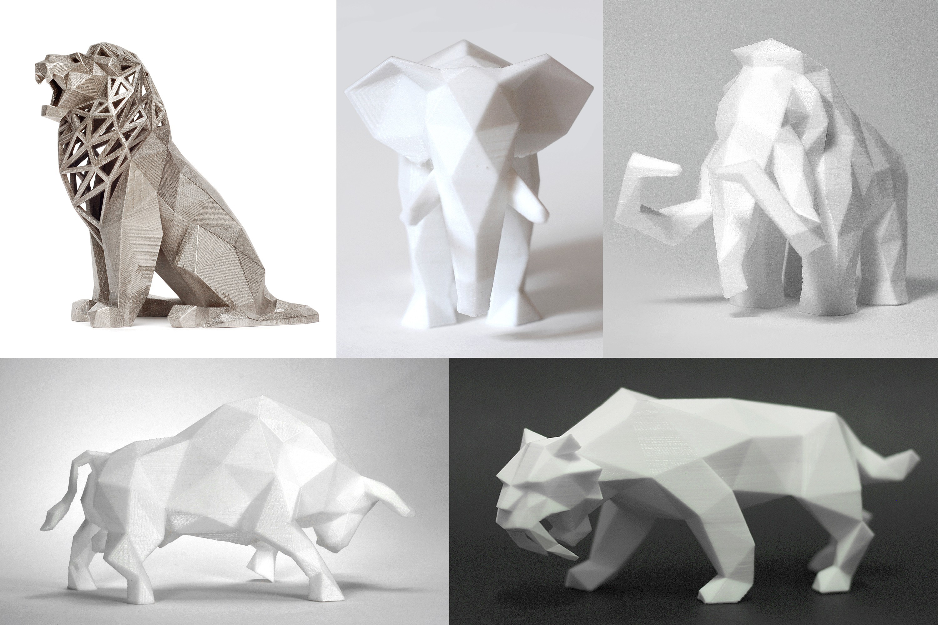 000 Low Poly Animals 3DP.jpg Download STL file Low Poly Animal Collection • 3D printing template, FORMBYTE