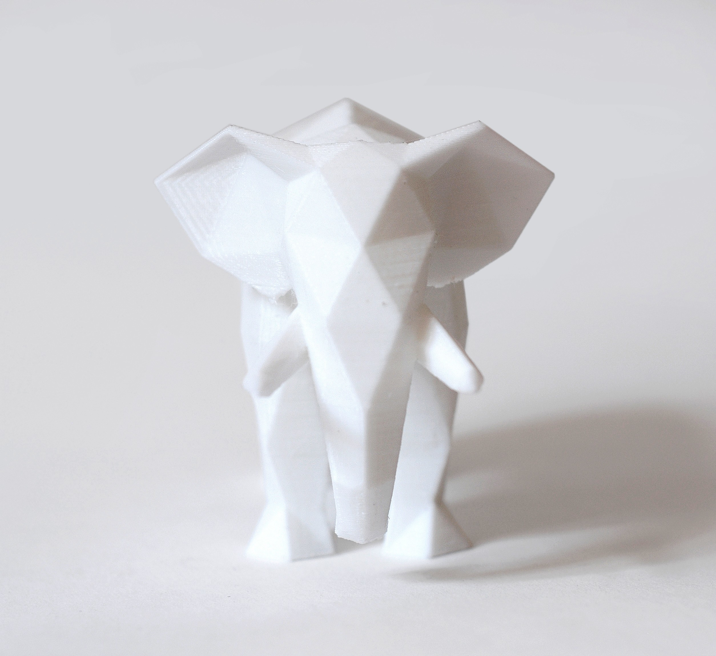 elephant (1).jpg Download STL file Low Poly Animal Collection • 3D printing template, FORMBYTE