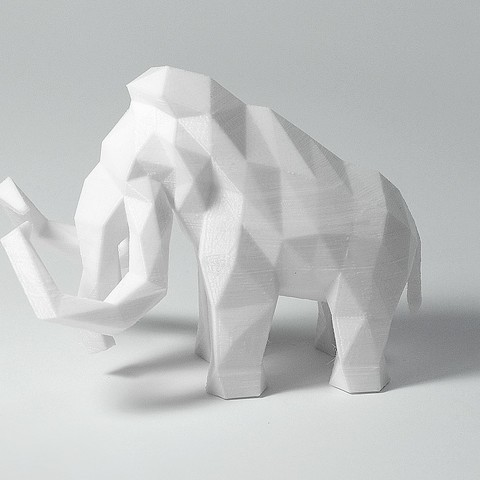 Mammoth 3.jpg Download STL file Low Poly Mammoth • 3D printable template, FORMBYTE