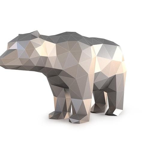 Low Poly Bear_View010000.jpg Download OBJ file Low Poly Bear • 3D printable design, FORMBYTE