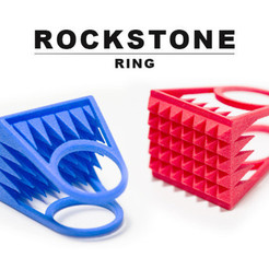 3D print model RockStone - ring, Salokannel