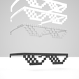Download STL file DEAL WITH IT - Shades • Model to 3D print, Salokannel