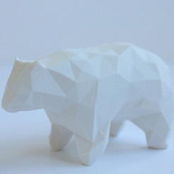 Free 3d printer model Polygon Bear, Yano