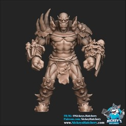 Download 3D printer files Orc #3, NickeysHatchery