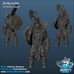 Download 3D printing templates Skallagrim, The Weapon Master, NickeysHatchery