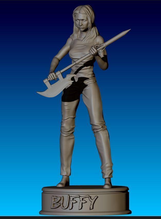 Buffy_05.JPG Download STL file Buffy Figurine • 3D print design, NickeysHatchery