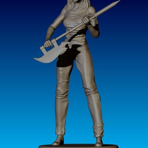 stl file Buffy Figurine, HatchinToys