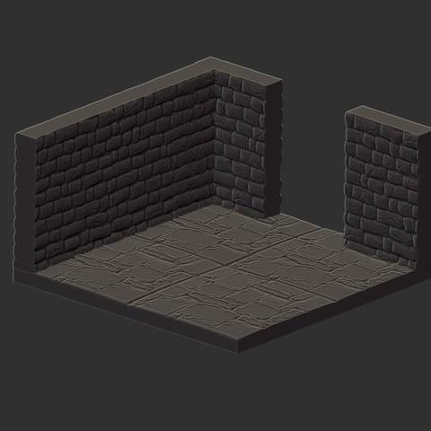 3d printer designs Dungeon Set #1, Basic Pieces, HatchinToys