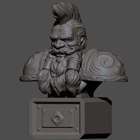 3d printer model Dwarf Bust, HatchinToys