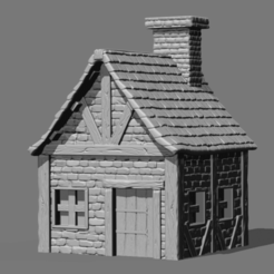 stl files Small Fantasy House, HatchinToys