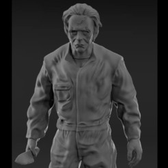Myke-Myers-3D.jpg Download STL file Michael Myers, Figurine • 3D printing template, NickeysHatchery
