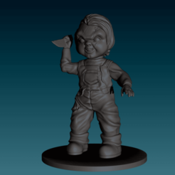 STL files Chucky Figurine, Child's Play, NickeysHatchery