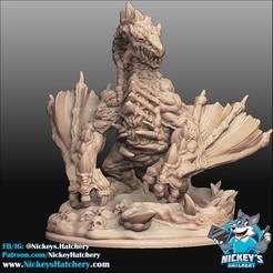 Télécharger objet 3D Le dragon mort-vivant muté, NickeysHatchery