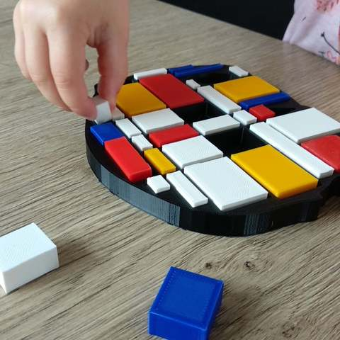 Download free 3D printing files Mondrian puzzle, dagomafr