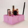 Free 3d printer designs Lipstick & Brush Holder by DAGOMA, dagomafr