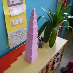 Download free 3D printing files Pink Montessori Tower, dagomafr
