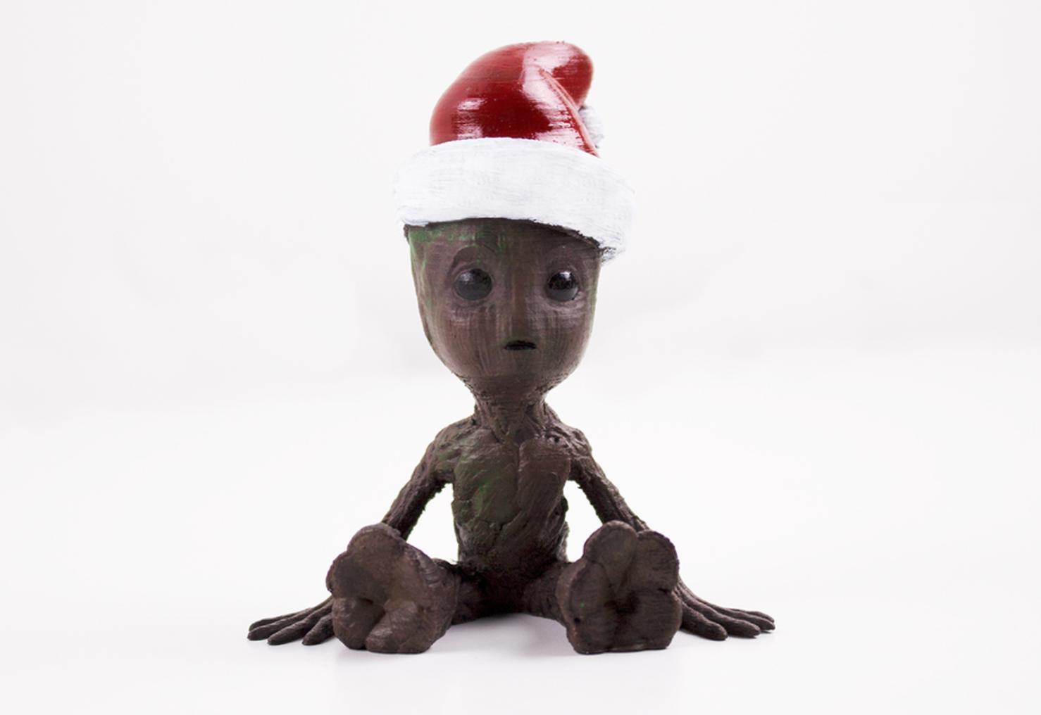 Capture d'écran 2017-12-19 à 16.41.31.png Download free OBJ file Babygroot Christmas • 3D printer template, dagomafr