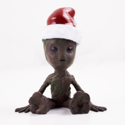 Capture d'écran 2017-12-19 à 16.41.31.png Download free OBJ file Babygroot Christmas • 3D printer template, dagomafr