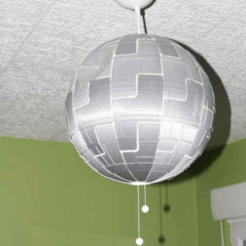 Free stl files Death Star for Ikea lamp, dagomafr