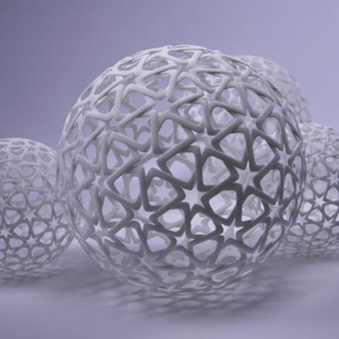 jpeg-3.jpg Télécharger fichier STL gratuit Islamic Christmas Ball • Plan à imprimer en 3D, bza