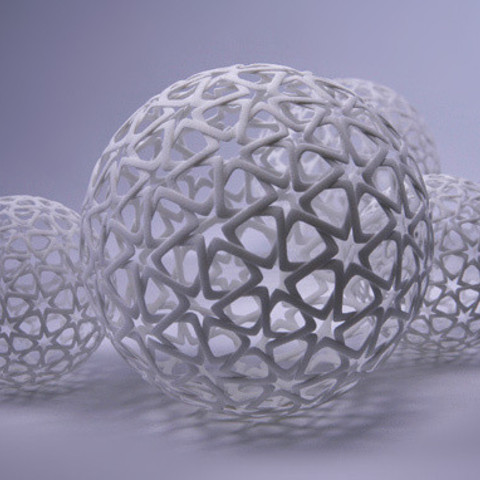 jpeg-3.jpg Download free STL file Islamic Christmas Ball • 3D printer template, bza