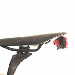 diseños 3d gratis Fizik ICS Sistema de clip integrado Adaptador de silla de montar para Planet Bike / SMART Led Lights, bza