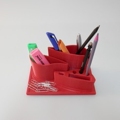 Free Pen Holder STL file, BEEVERYCREATIVE