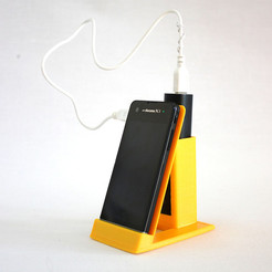 Download free 3D printer designs Sony Xperia SX phone and powerbank holder, BEEVERYCREATIVE