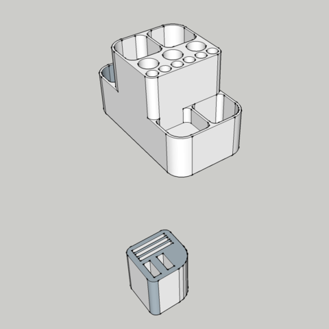 Office_material_holder-virtual.png Download free STL file Office material holder • 3D printing object, BEEVERYCREATIVE