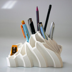 Download free STL files Pen and Pencil Holder , BEEVERYCREATIVE