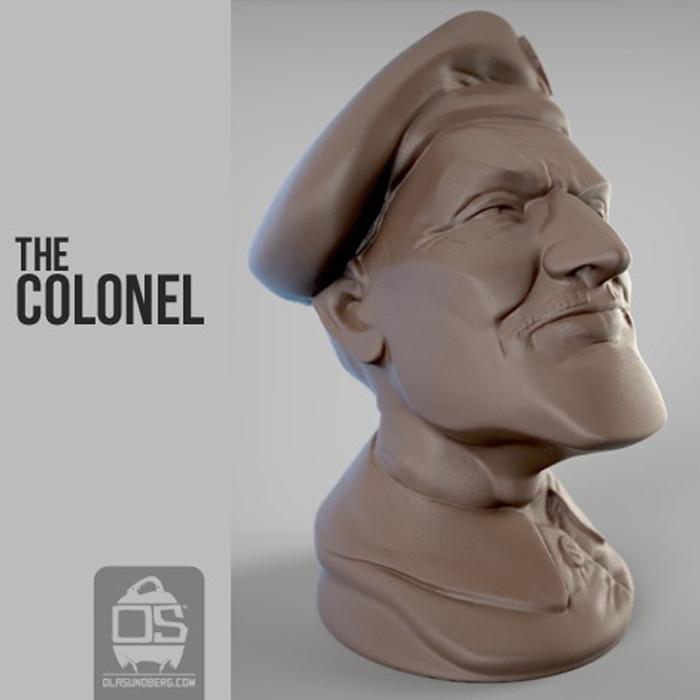 r1.jpg Télécharger fichier STL gratuit  The Colonel • Objet pour imprimante 3D, Sculptor